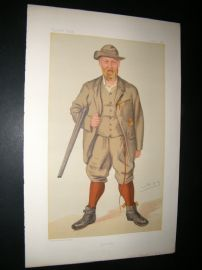 Vanity Fair Print 1885 Richard John Lloyd, Price of Rhiwlas, Game Hunter